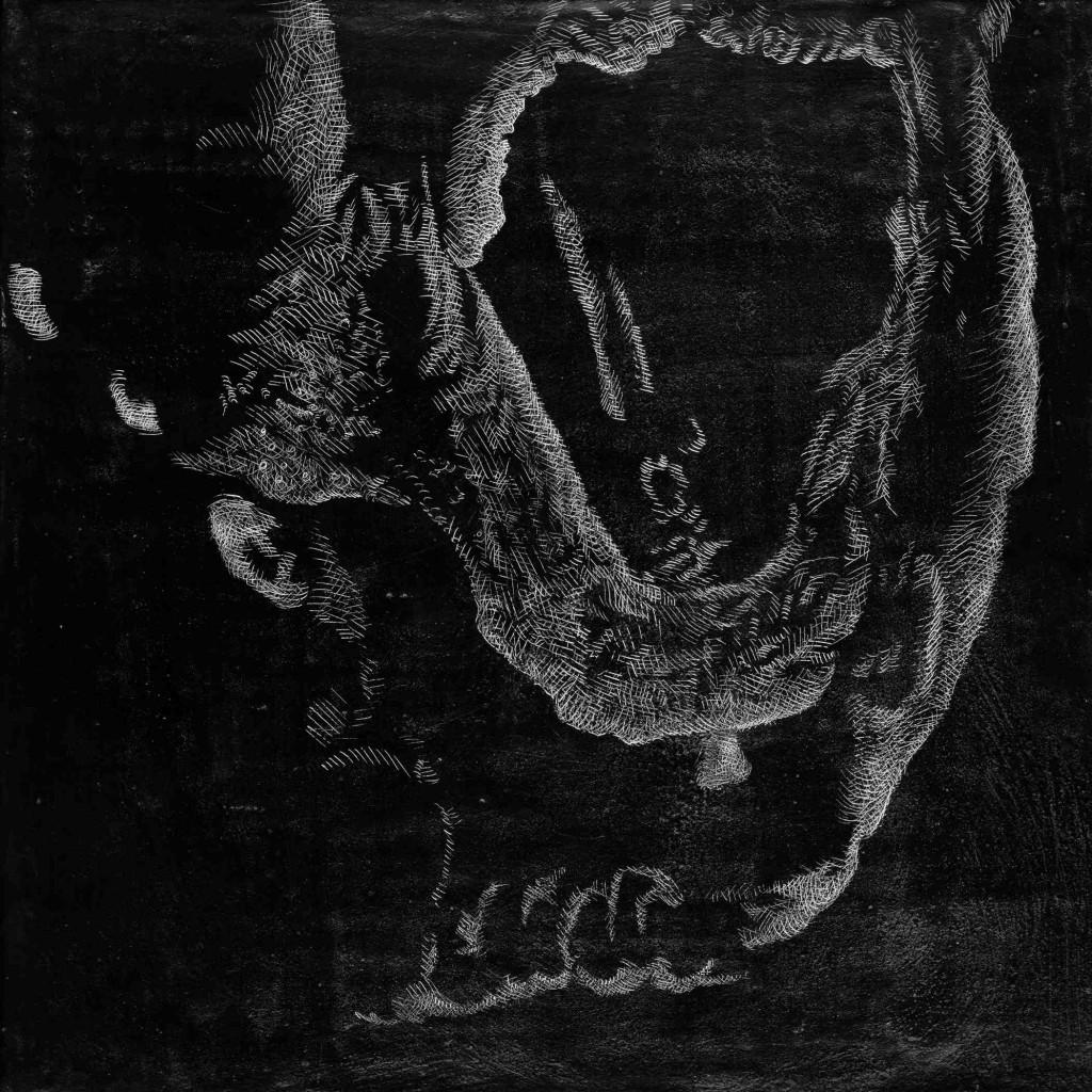 Welthcronic, Kridt og grafit på MDF plade. 30 x 30 cm