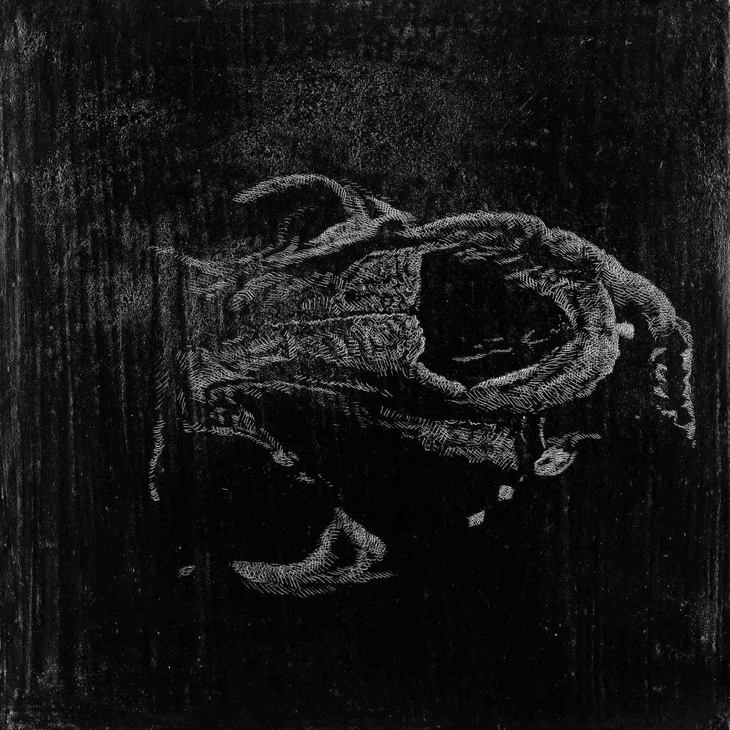 Welthcronic, Kridt og grafit på MDF plade, 30 x 30 cm.