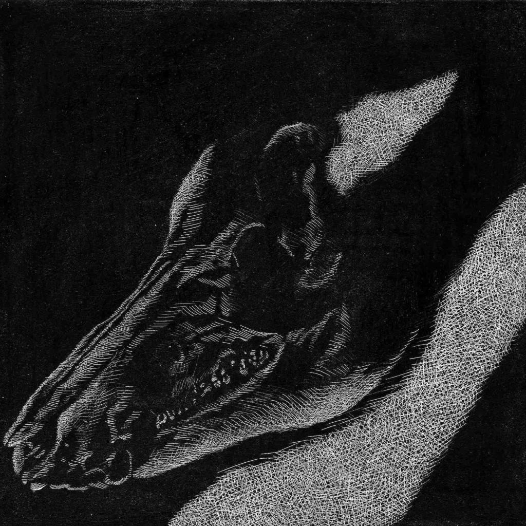 Welthcronic, Kridt og grafik på MDF plade, 30 x 30 cm.