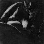 Mette Suiten, Kridt og grafit på MDF plade. 30 x 30 cm