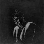 Mette Suiten, Kridt og grafit på MDF plade, 30 x 30 cm.